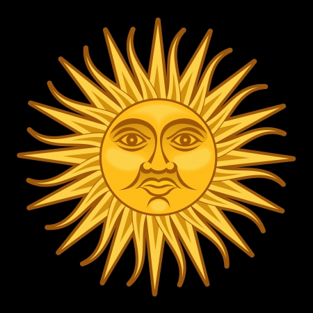 Sun of May  Sol de Mayo Vector