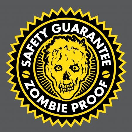 Zombie Proof, Veiligheid Garantie Seal Stockfoto - 15323782