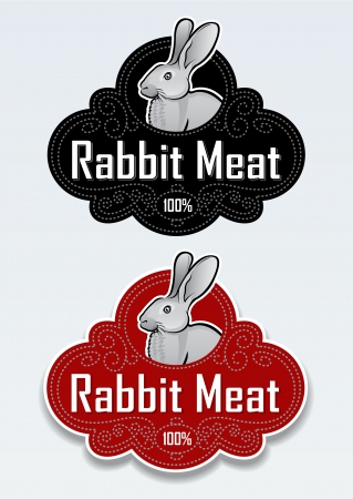 Rabbit Meat Seal   Sticker Stock Vector - 15328429