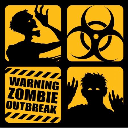 Iconos brote de zombis Ilustración de vector