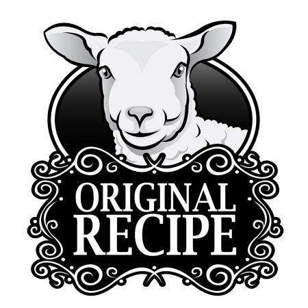 sheep farm: Original Recipe Lamb Royal Seal, Badge