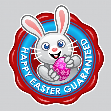 Happy Easter Guaranteed Seal Stock Vector - 15328432