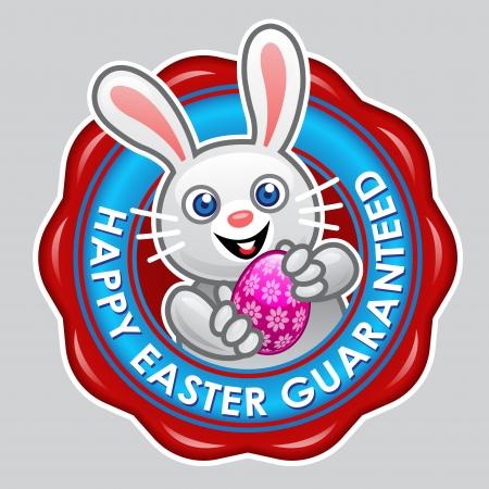 Happy Easter Guaranteed Seal Stock Vector - 15328432