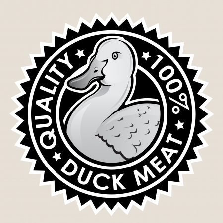 Duck Meat Quality 100  Seal Stock Vector - 15328415
