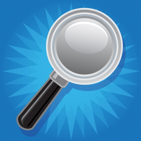 inspect: Magnifying glass, vector