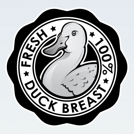 Duck Breast, Fresh 100  Seal Stock Vector - 15321372