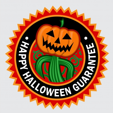 certify: Happy Halloween Guarantee Pumpkin Seal   Sticker