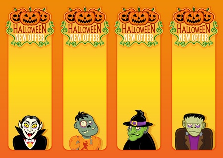 trick or treat: Hallowen New Offer vertical labels