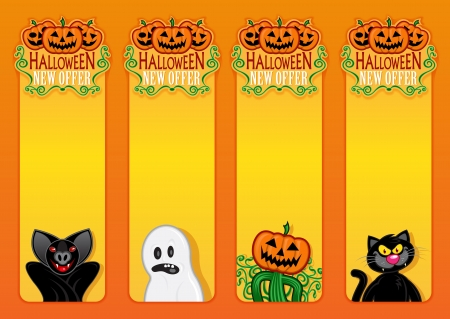 Halloween New Offer, vertical labels Vector