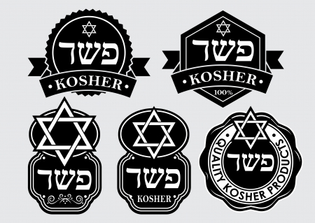Kosher seal   emblem Illusztráció