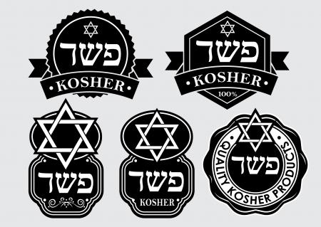 Kosher seal   emblem 矢量图像
