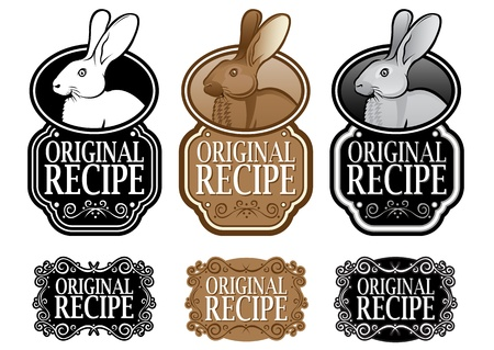 Original Recipe Rabbit version vertical seal Stock Vector - 15379598