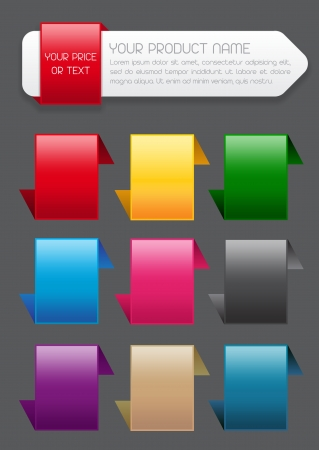 largess: Sale Banner   Label and Icons in colors Illustration
