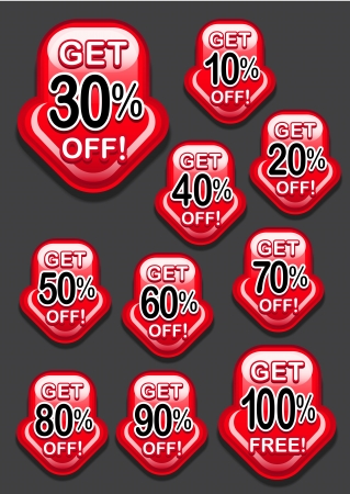 largess: Get Percent Off Icons Arrow Down Illustration