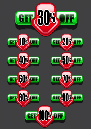 largess: Get Percent Off Arrow Down Banner   Icons