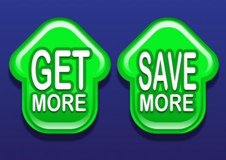 get up: Get More Save More Freccia su Icone