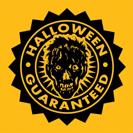 Halloween Guaranteed Zombie Seal Vector