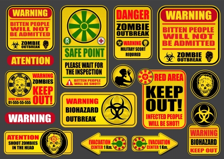 warning signs: Zombie Apocalypse Sings