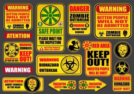 warning notice: Zombie Apocalypse Sings