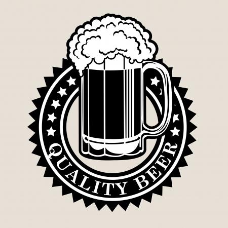 german mark: Quality Beer Seal  Badge Illustration