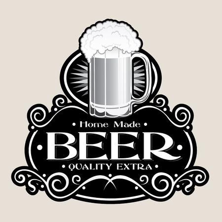 Hand Made BEER Quality Extra Seal Vector