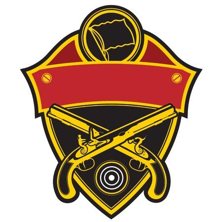 batallón: Sello en el Club de Tiro avancarga