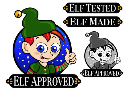 Elf Approved, Tested, Made Icon   Mark   Seal Vector