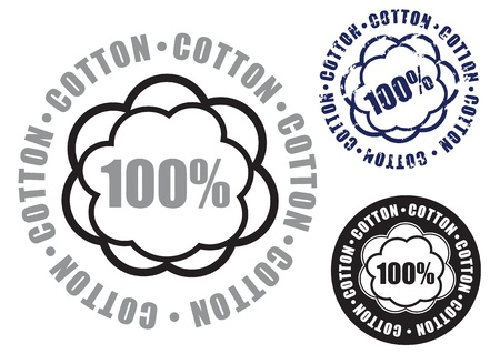 mild: 100  Cotton Seal in three versions Illustration
