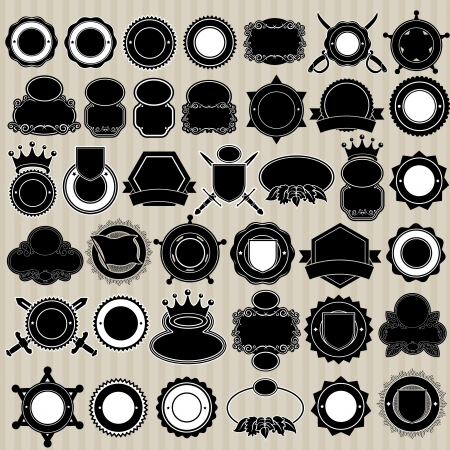 Blank Labels, Seals and Badges Collection Vector