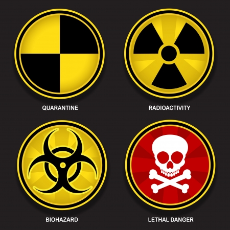 Hazard Symbols Signs Vector