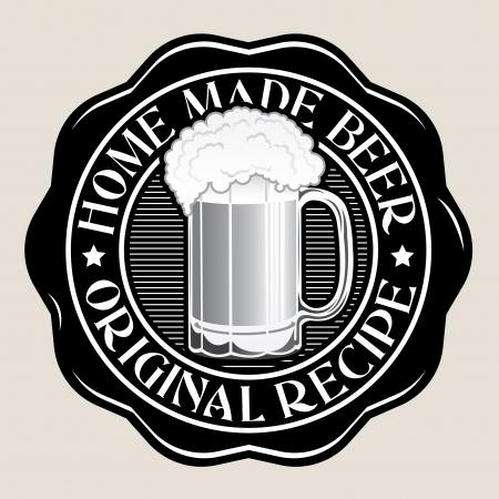 Home Made Beer  Original Recipe Seal Illusztráció