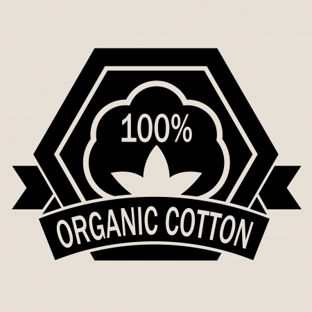 100% Organic Cotton Vector