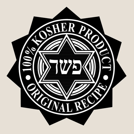 100% Kosher Product  Original Recipe Seal Vector