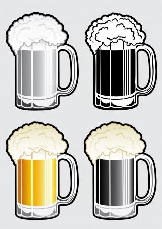 black beer: Beer Mug Illustration Illustration