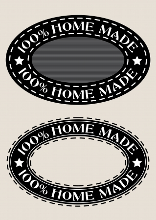 100% Home Made Seal Vector