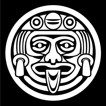 Aztec face mask Vector