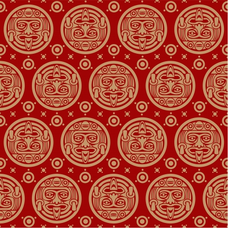 mayan prophecy: Aztec Seamless Pattern