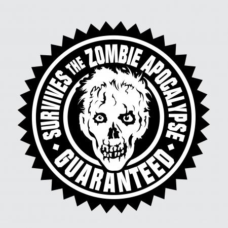 Survives the Zombie Apocalypse / Guaranteed  矢量图像