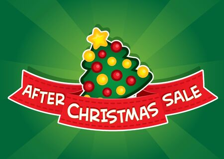 After Christmas Sale Banner Vector