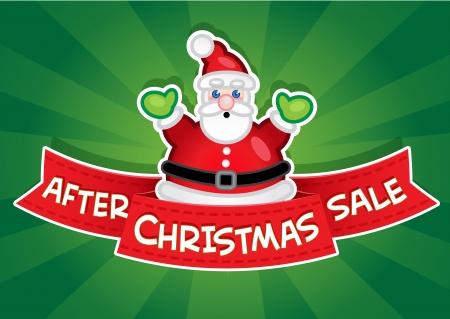 etiquete: After Christmas Sale Banner  Santa
