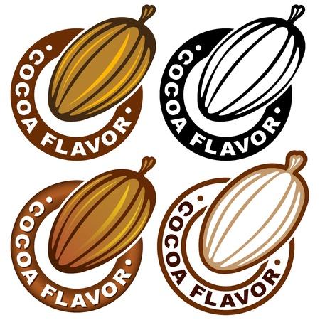 Cocoa Falvor Sello / marca Ilustración de vector