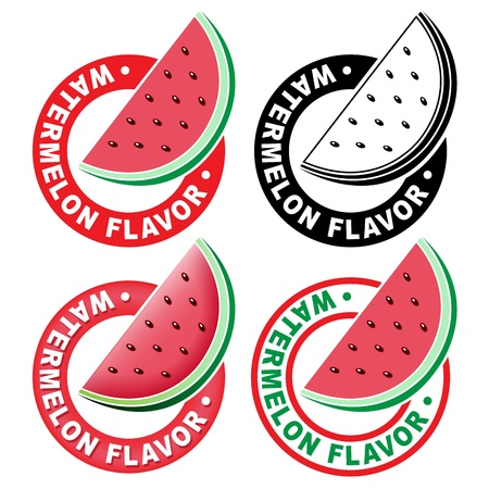sirup: Watermelon Flavor Seal  Mark Illustration