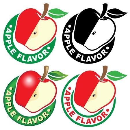 sirup: Apple Flavor Seal  Mark Illustration