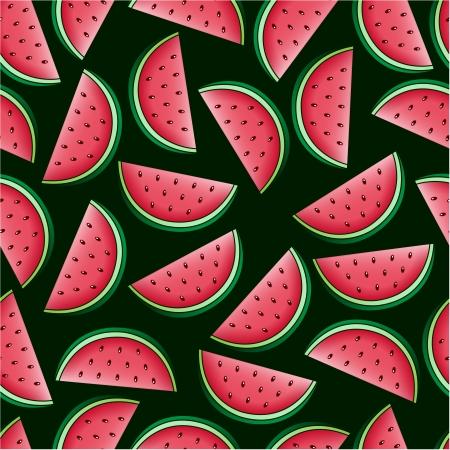 Watermelon Seamless Pattern Stock Vector - 17313349
