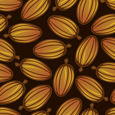 cocoa fruit: Cocoa Fruit Seamless Pattern