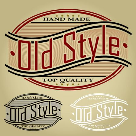 Old Style Retro Styled Seal   Label Vector