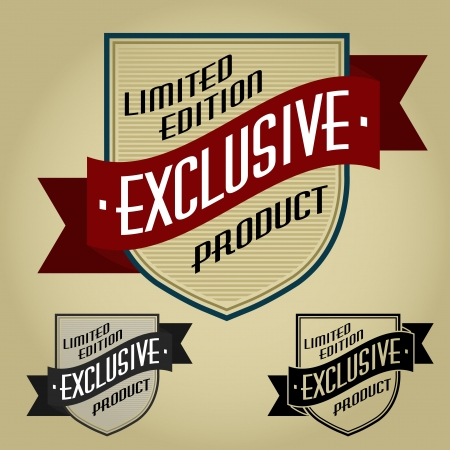 Limited Edition / Exclusive Product Retro Seal Stock Vector - 17901486