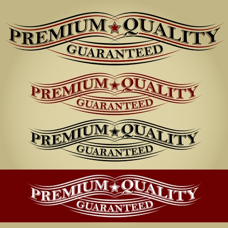 Premium Quality Guaranteed Retro Calligraphic Ribbon Stock Vector - 17901489
