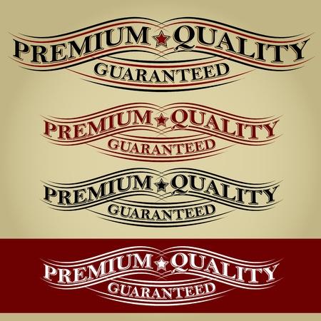 Premium Quality Guaranteed Retro Calligraphic Ribbon Stock Vector - 17901489