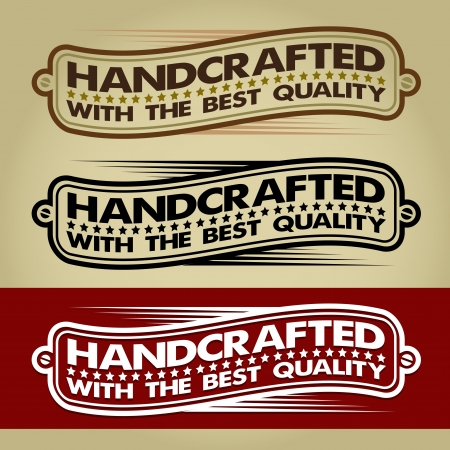 handcrafted: Handcrafted Retro Banner  Label